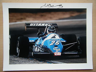 Jean Pierre Jarier Ligier Gitanes Ford JS 21 from 1983 F1 season originalsigned
