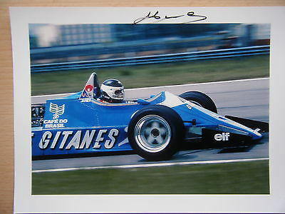 Jean Pierre Jarier - Ligier Gitanes Ford JS 21 from 1983 F1 season signed Kodak