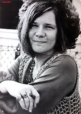 JANIS JOPLIN Rare Early 1970's Columbia Records Promo POSTER - Stunning!