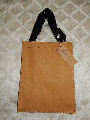 Starbucks Recycled Leather Tote Brown Stars Lunch Bag Reusable Recycle PROMO NEW