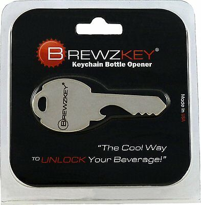 NEW | Brewzkey Key Shaped Bottle Opener Keychain - Beer Soda Cap | FREE SHIPPING