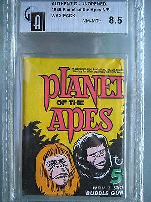 1969 Topps Planet of the Apes Wax Pack with Gum GAI 8.5 **Low Pop** like PSA