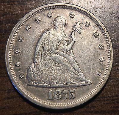 1875 Liberty Seated 20C Cent Peice