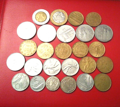 pre-Euro coins from Italy : 5,10,50,100,200,500,1000 Lire l2