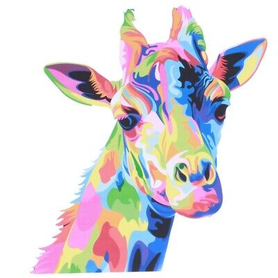 Colourful Giraffe Animal Canvas Painting Print Picture Wall Art Unframed De O9I1