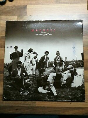 """Madness, Rise and Fall. 12"""" vinyl. Stiff records. 1982"""