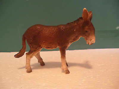 Schleich Brown and White Donkey Figure USED