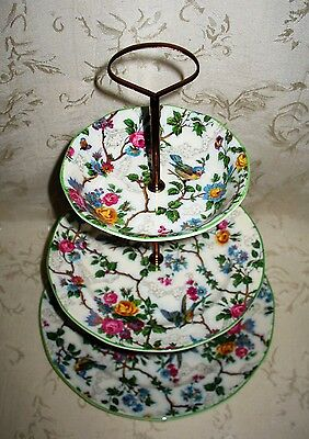 Exquisite 3 Tier Serving Tray by Barker Bros. in the Royal Tudor Lorna Doone pat