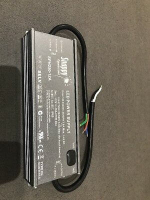 Snappy PSU-SPH250-12A LED Driver Power Supply 12VDC 18A IP65
