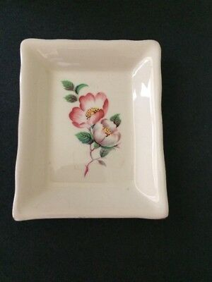Prinknash Pottery Gloucester England Floral Pin Dish Tray