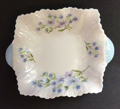 Shelley England Blue Rock Two Handled 10cm Pin Dish