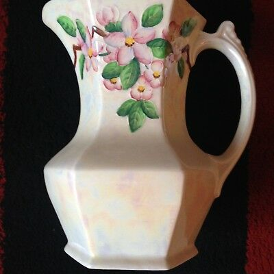 Vintage - Ringtons Ltd Maling Ware Lustre Jug - Floral Decoration