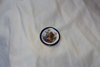 Dollhouse Miniature Limoges France Handpainted Plate Decorator needs hanger