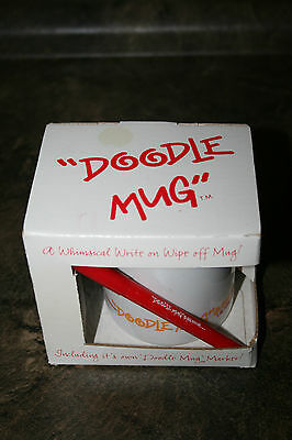 Vintage 1988 Doodle Mug Coffee Cup New in Box with Marker Toronto Canada