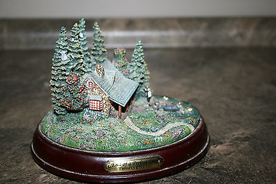 2001 Thomas Kinkade Hawthorne Village The End Of A Perfect Day Woodland Retreats
