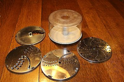 Vintage Braun Food Processor Disc Blades and Bowl  Model 4261 Made in Germany