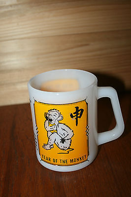 Vintage Federal Glass Year Of The Monkey Mug Coffee Cup