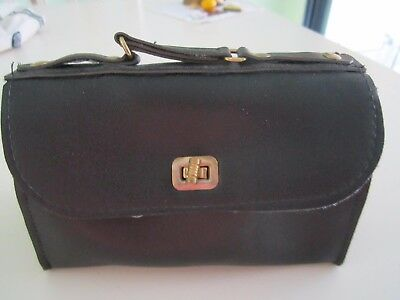 American Girl SAMANTHA Black Victorian Valise Luggage Bag  Original '90's A+