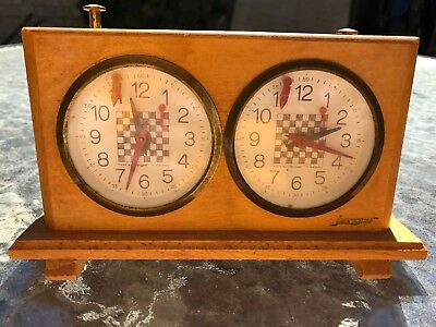 Jerger Vintage German Chess Clock Partially Working