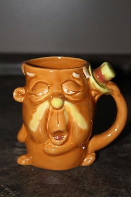Vintage Character Coffee Mug Funny Face Cup Made in Japan looks unused Ceramic