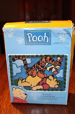 """Caron Latch Hook Kit Winnie the Pooh """"Bounce"""" 20"""" by 30"""" with instructions USA"""