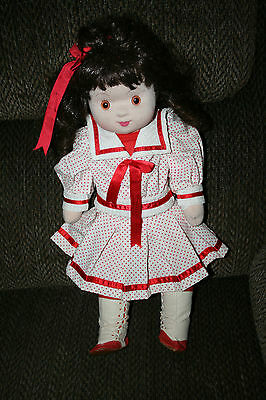 """Sweet Inspirations Gorham Cloth Doll 19"""" 1986 Made in Taiwan Original Outfit"""