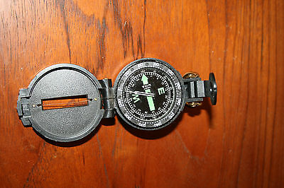 Engineer Directional Hinged Compass made in Japan Plastic Case Hook for Carrying