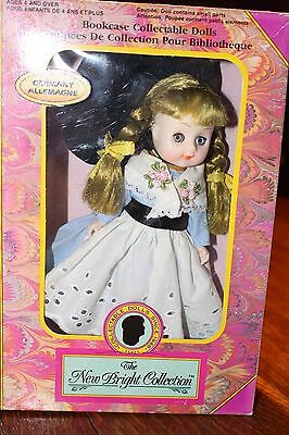 Vintage Doll The New Bright Collection Bookcase Collectable Doll Germany 1991