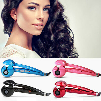 UK Plug Automatic Electric Hair Curler Curling Iron Roller Ceramic LCD Display