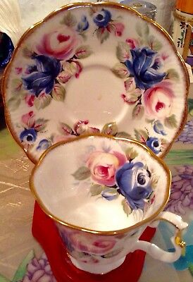 "Royal Albert Cup & Saucer Summer Bounty Series "" Sapphire """