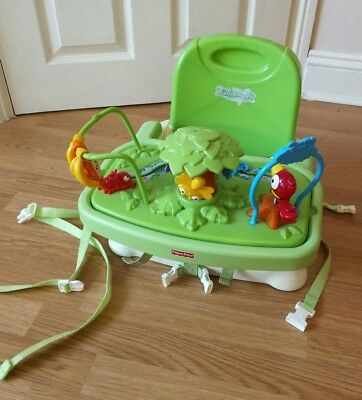 Fisher price rainforest baby booster Seat feeding and removable play tray floor