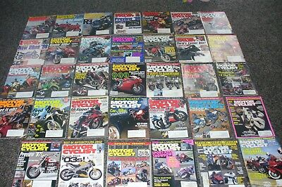 Bulk lot 34 MOTOR CYCLIST Magazines  # 459