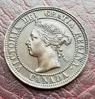 (T36) Canada 1901 Queen Victoria One Cent Coin