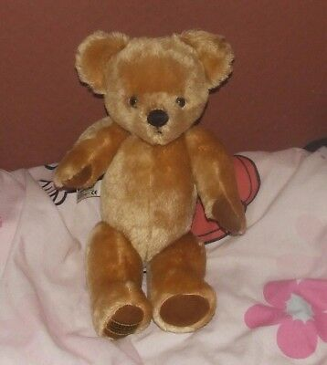 Merrythought Teddy Bear Vintage Style Golden Mohair Jointed 14""