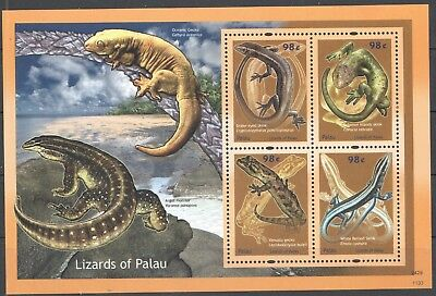 O838 Palau Animals Reptiles Lizards Of Palau 1Bl Mnh