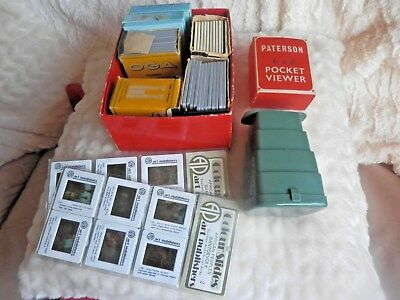Vintage Paterson 6 X 6 Viewer Boxed With Various Slides Zulu,portsmouth,delft