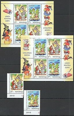 A661 2010 Romania Art Europa Cartoons Children Books 1Set+2Kb Mnh