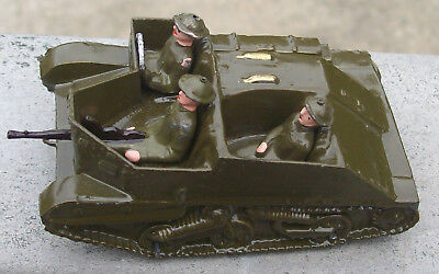 Vintage Britains Half-Track Type Army Vehicle w/Driver, Soldier,& Gunner-LOOK!