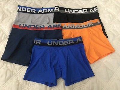 Under Armour Boys Heatgear Boxerjock Briefs. Lot of 5.. Size- Youth Small. #3