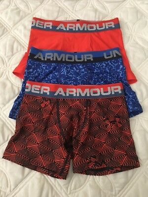 Under Armour Boys Heatgear Boxerjock Briefs. Lot of 3.. Size- Youth Small. #9