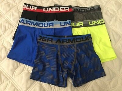 Under Armour Boys Heatgear Boxerjock Briefs. Lot of 5.. Size- Youth Small. #7