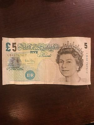 Circulated Old £5 Five Pound Note Elizabeth Fry cheapest on ebay only 2 left