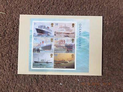 Royal Mail Stamp Cards PHQ264 Ocean Liners