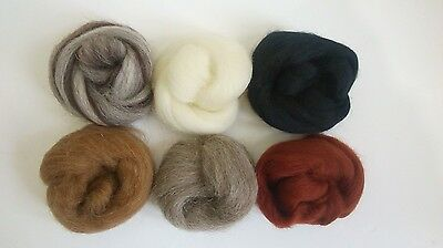 Needle Felting Natural Collection Ideal for Animal Projects. Felting Wool