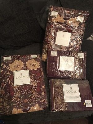 Dorma Victoria Double Duvet Cover Curtains And Pillow Cases Brand New Rrp £150