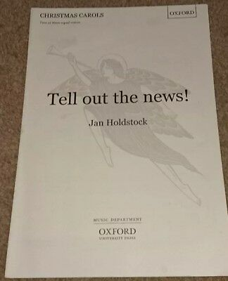 """""""Tell Out the News"""", Christmas Carol Choral 2/3 Part Sheet Music, Jan Holdstock"""