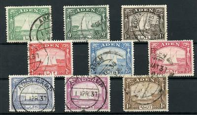 Aden 1937 Dhows short set to 1r SG1/9 FU