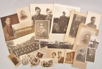 Military Photographs Navy Sailor RAF Soldier WW1 & WW2 Snapshot Antique Postcard