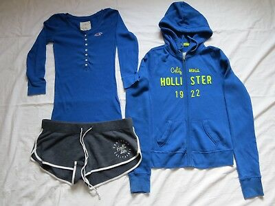 Women's / Girls Hollister Clothes, Size Xs, Hoodie, Shorts, Top