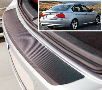 BMW 3 Series E90 - Carbon Style rear Bumper Protector